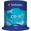 CD-R Verbatim DL 700MB 52x Extra Protection 100-cake 43411